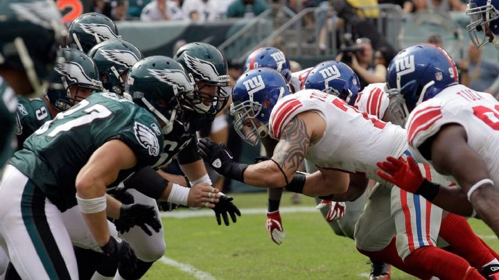 NFL: Giants vs Eagles HORARIO y dónde seguir la transmisión EN VIVO
