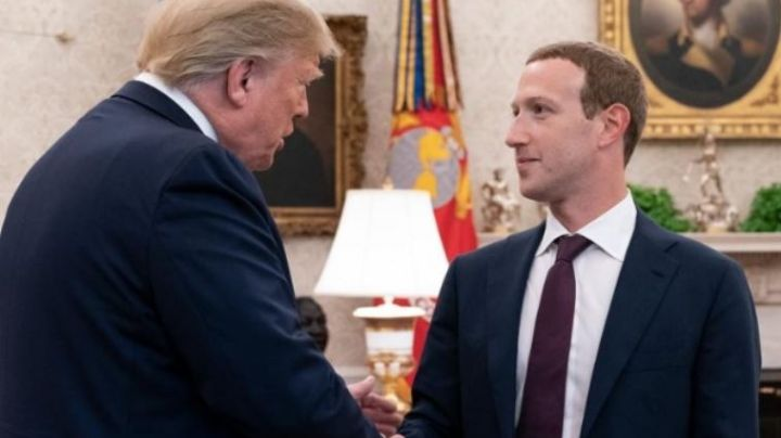 Mark Zuckerberg se pelea con Donald Trump