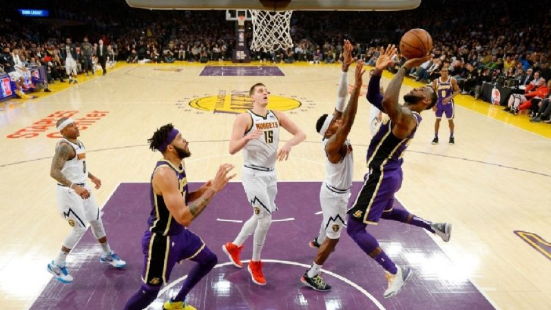 NBA Lakers vs Nuggets: dónde ver la transmisión del partido EN VIVO