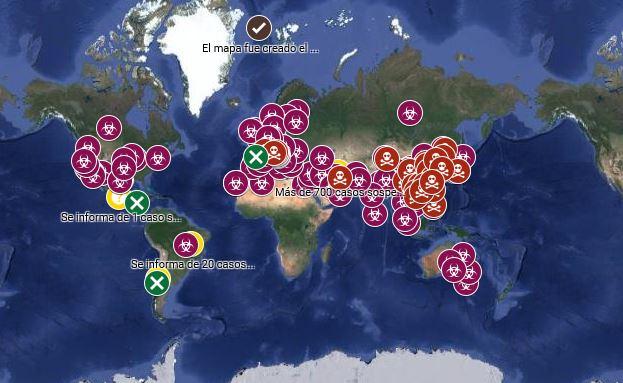 Un mexicano es el realizador del mapa del coronavirus de Google